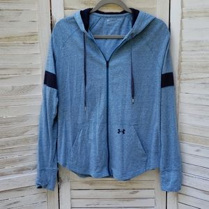 Under Armour Sportstyle Blue Zip Up Hoodie Large